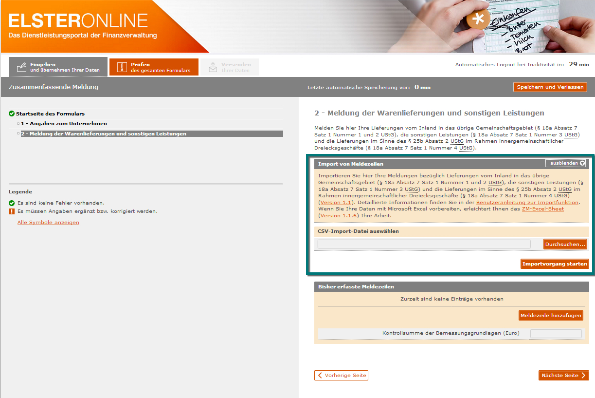 Finanzbuchhaltung > Monatliche/periodische Arbeiten > Steuercenter ...